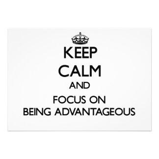 Guarde la calma y el foco en ser ventajoso