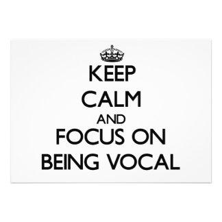 Guarde la calma y el foco en ser vocal invitacion personal