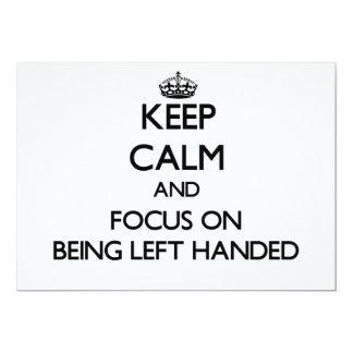 Guarde la calma y el foco en ser zurdo comunicado personalizado