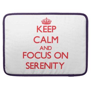 Guarde la calma y el foco en serenidad fundas para macbook pro