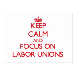 Guarde la calma y el foco en sindicatos plantilla de tarjeta personal