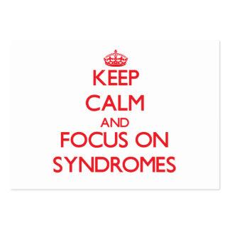 Guarde la calma y el foco en síndromes tarjeta de negocio