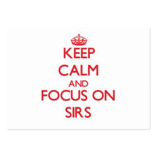 Guarde la calma y el foco en sires