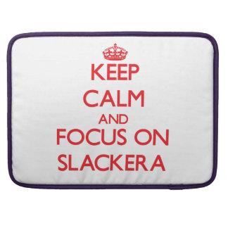 Guarde la calma y el foco en Slackera Funda Macbook Pro