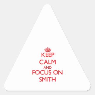 Guarde la calma y el foco en Smith