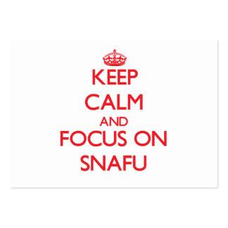 Guarde la calma y el foco en Snafu