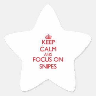 Guarde la calma y el foco en Snipes Pegatinas Forma De Estrellaes Personalizadas