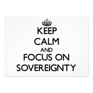 Guarde la calma y el foco en soberanía anuncios