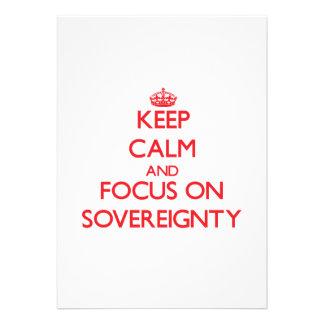 Guarde la calma y el foco en soberanía comunicado personalizado