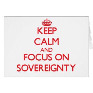 Guarde la calma y el foco en soberanía tarjetón