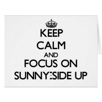 Guarde la calma y el foco en Soleado-Side para Tarjeta De Felicitación Grande