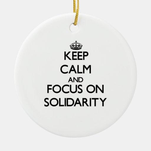 Guarde la calma y el foco en solidaridad ornato