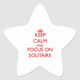 Guarde la calma y el foco en solitario pegatina forma de estrella personalizada