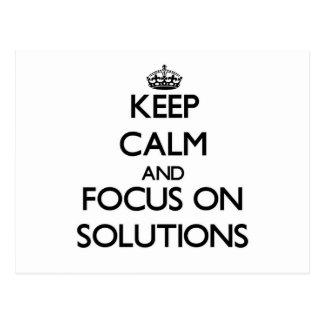 Guarde la calma y el foco en soluciones postales