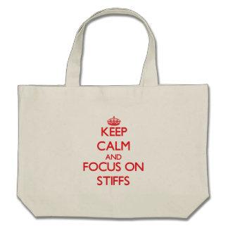 Guarde la calma y el foco en Stiffs Bolsas