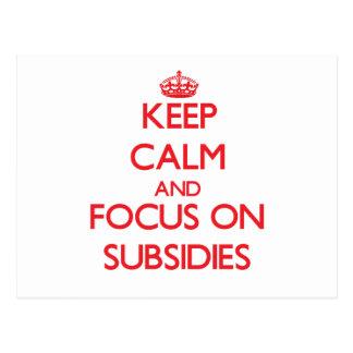 Guarde la calma y el foco en subsidios postal