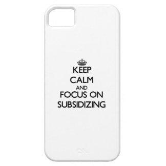 Guarde la calma y el foco en subvencionar iPhone 5 funda