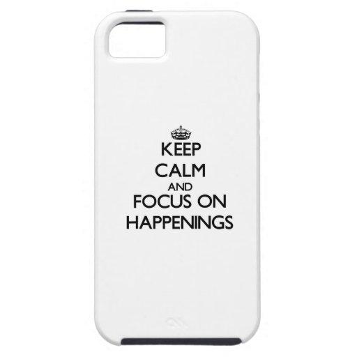 Guarde la calma y el foco en sucesos iPhone 5 Case-Mate protectores