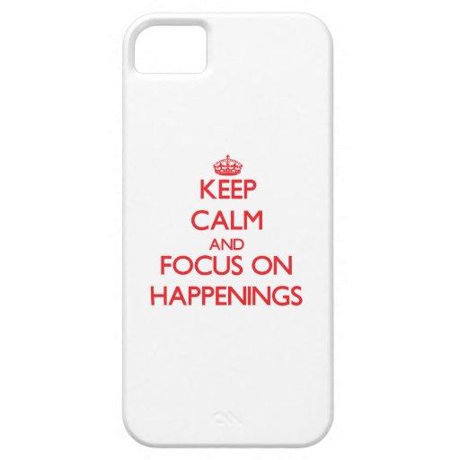 Guarde la calma y el foco en sucesos iPhone 5 Case-Mate carcasa