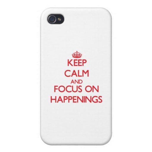 Guarde la calma y el foco en sucesos iPhone 4/4S carcasas
