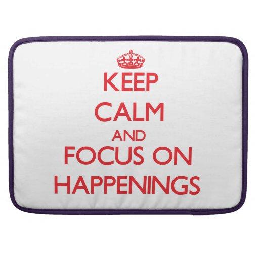 Guarde la calma y el foco en sucesos fundas macbook pro