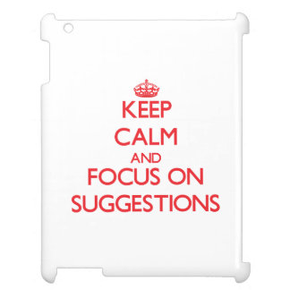 Guarde la calma y el foco en sugerencias