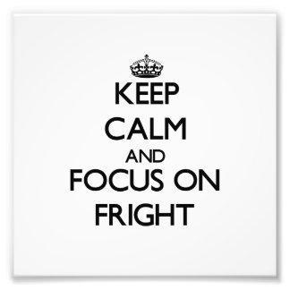 Guarde la calma y el foco en susto