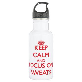 Guarde la calma y el foco en Sweats