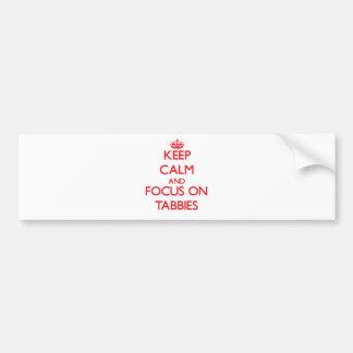 Guarde la calma y el foco en Tabbies Pegatina Para Auto