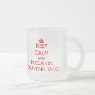 Guarde la calma y el foco en tareas de enormes taza cristal mate