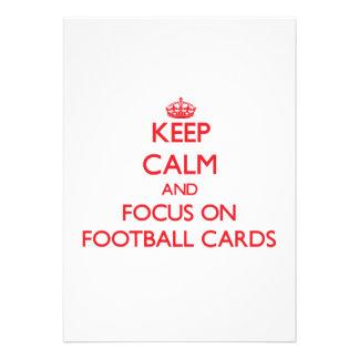 Guarde la calma y el foco en tarjetas del fútbol comunicados