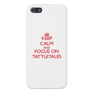 Guarde la calma y el foco en Tattletales iPhone 5 Cobertura