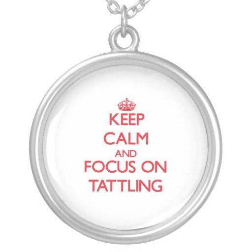 Guarde la calma y el foco en Tattling Joyería