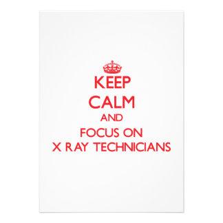 Guarde la calma y el foco en técnicos de la comunicados personalizados