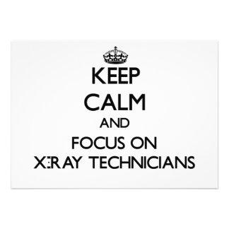 Guarde la calma y el foco en técnicos de la radiog