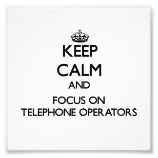 Guarde la calma y el foco en telefonistas