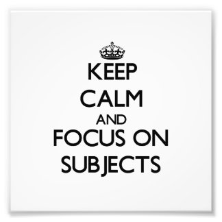 Guarde la calma y el foco en temas cojinete