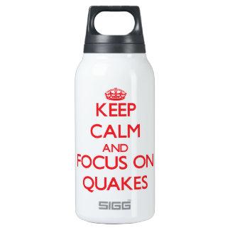 Guarde la calma y el foco en temblores