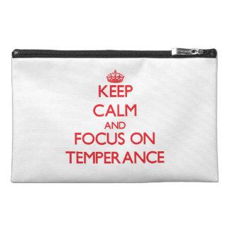 Guarde la calma y el foco en templanza
