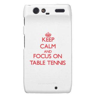 Guarde la calma y el foco en tenis de mesa droid RAZR carcasa