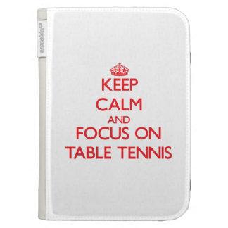 Guarde la calma y el foco en tenis de mesa