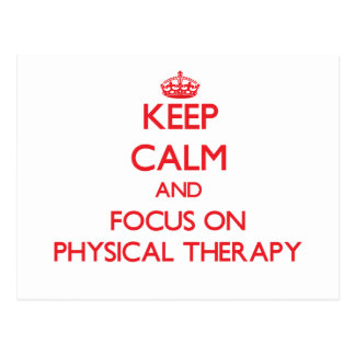 Guarde la calma y el foco en terapia física postal