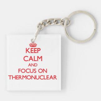 Guarde la calma y el foco en termonuclear llaveros