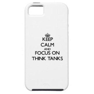 Guarde la calma y el foco en Think - los tanques iPhone 5 Cobertura