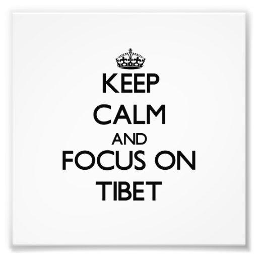 Guarde la calma y el foco en Tíbet Fotografías