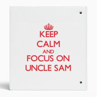 Guarde la calma y el foco en tío Sam