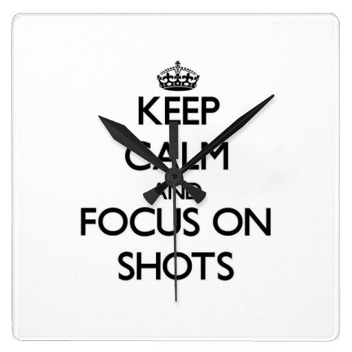 Guarde la calma y el foco en tiros relojes