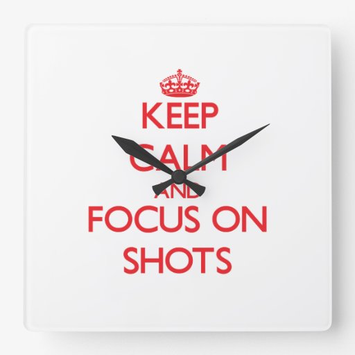 Guarde la calma y el foco en tiros reloj