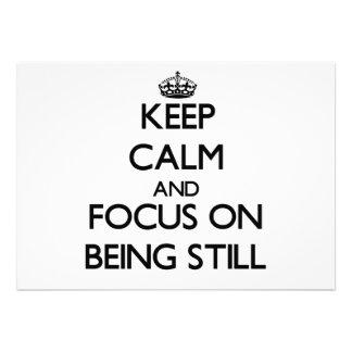 Guarde la calma y el foco en todavía estar comunicados
