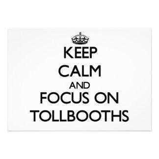 Guarde la calma y el foco en Tollbooths Anuncio